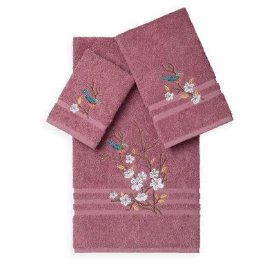 Hacking 3 Piece Towel Set Color: Tea Rose