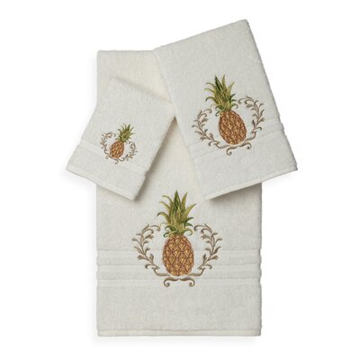 Mcleroy 3 Piece Towel Set Color: Cream
