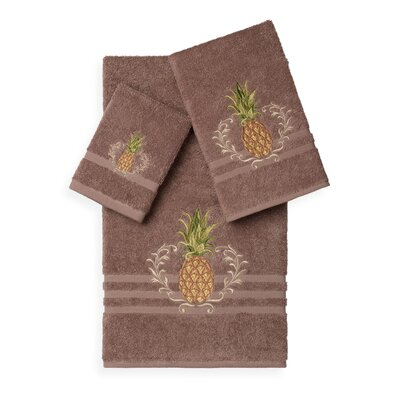 Mcleroy 3 Piece Towel Set Color: Latte