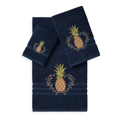 Mcleroy 3 Piece Towel Set Color: Midnight Blue