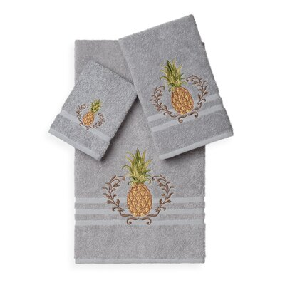 Mcleroy 3 Piece Towel Set Color: Light Grey