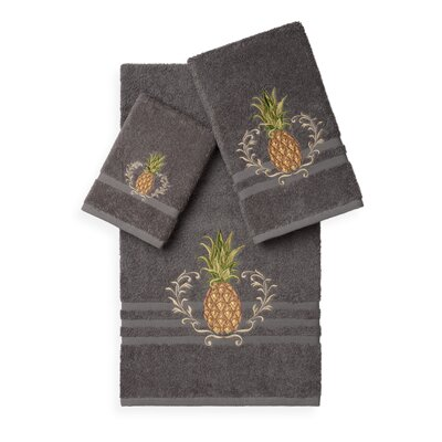 Mcleroy 3 Piece Towel Set Color: Dark Grey