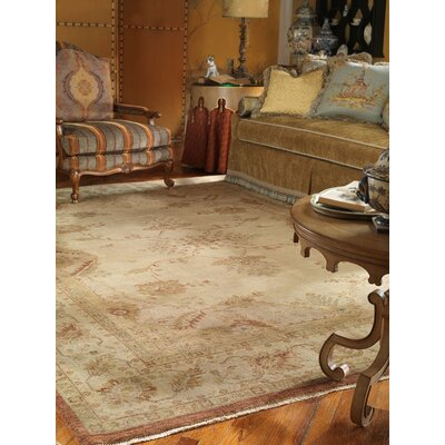 Henryville Hand Knotted Wool Ivory Area Rug Rug Size: Rectangle 6 x 9
