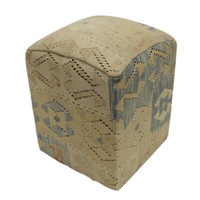 Carmack Wood Frame Upholstered Ottoman