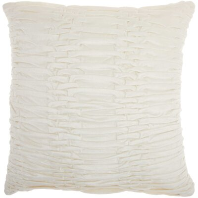 Audington Velvet Throw Pillow Color: Cream
