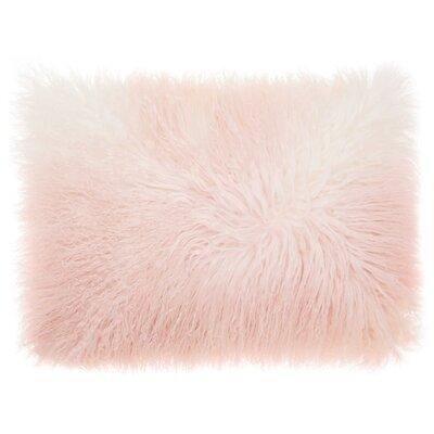 Hornsea Throw Pillow Color: Rose/White