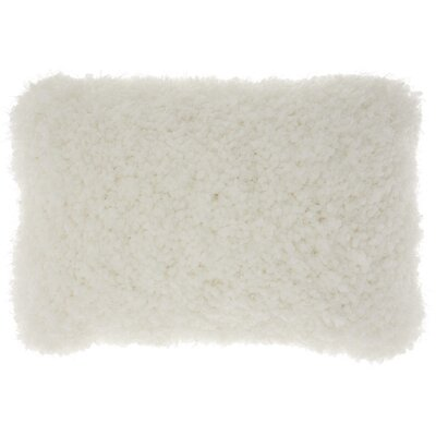 Shanelle Lumbar Pillow Color: White