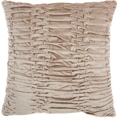 Audington Velvet Throw Pillow Color: Beige