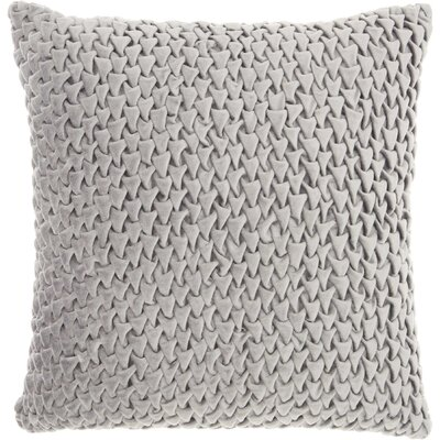 Audington Velvet Throw Pillow Color: Light Gray