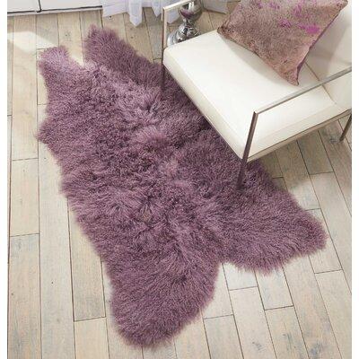 Highbury Sheepskin Indoor Area Rug Color: Lavender
