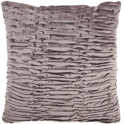 Audington Velvet Throw Pillow Color: Dark Gray