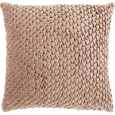 Audington Velvet Throw Pillow Color: Nude