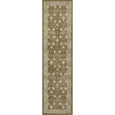 Britley Green Area Rug Rug Size: Runner 27 x 10