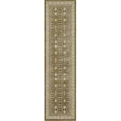 Britley Green Area Rug Rug Size: Runner 27 x 99