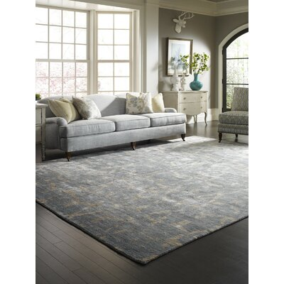 Grisella Hand Knotted Blue Area Rug Rug Size: Rectangle 4 x 6