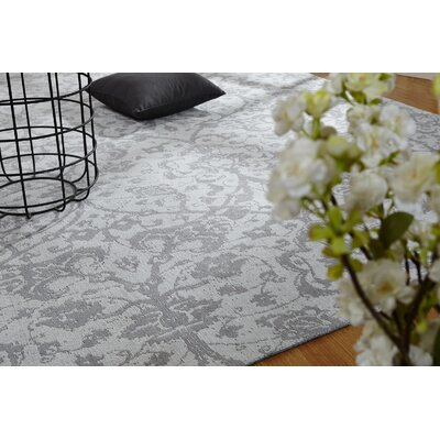 Analia Hand-Knotted Cotton Platinum Area Rug Rug Size: Rectangle 36 x 56