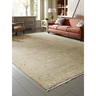 Matherne Hand Knotted Wool Beige Area Rug Rug Size: Rectangle 12 x 15