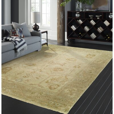 Janet Hand Knotted Wool Beige Area Rug Rug Size: Rectangle 3 x 5
