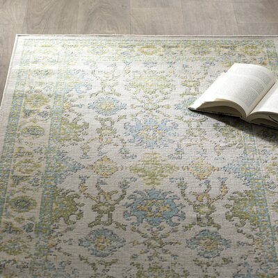 Velay Green/Blue Area Rug Rug Size: Rectangle 28 x 5