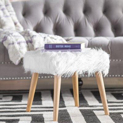 Belfield Ottoman Upholstery: White