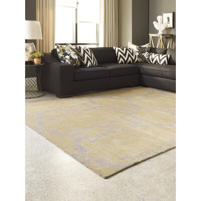 Gotsch Hand Knotted Wool Gold Area Rug Rug Size: Rectangle 10 x 14