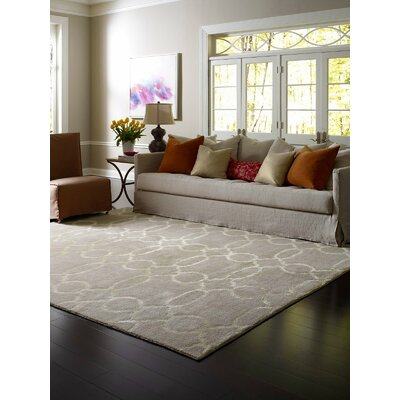 Vicennia Hand-Knotted Wool Beige Area Rug Rug Size: Rectangle 6 x 9