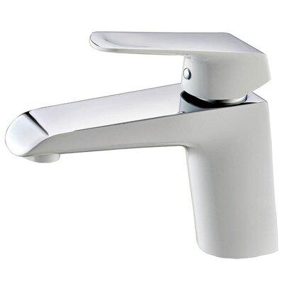 Basin Single Hole Single Handle Bathroom Faucet Finish: White/Chrome