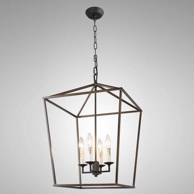 Henriqueta 4-Light Candle-Style Chandelier