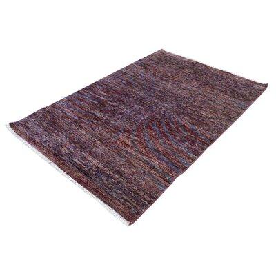 One-of-a-Kind Carmela Hand-Knotted Wool Purple/Blue Area Rug