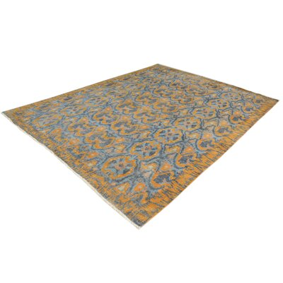 One-of-a-Kind Carmela Hand-Knotted Wool Light Blue/Gray Area Rug