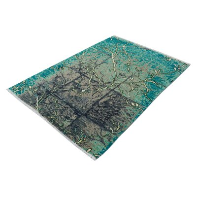 One-of-a-Kind Carmela Hand-Knotted Wool Teal/Green Area Rug