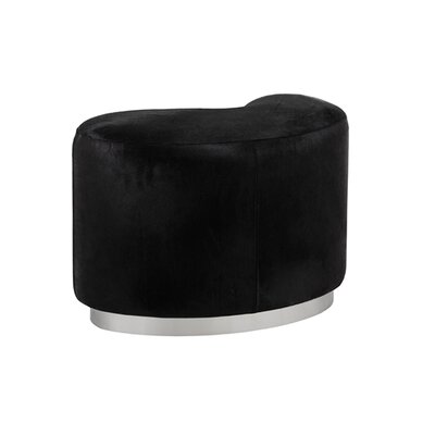 Moncasa Leather Ottoman Upholstery: Black
