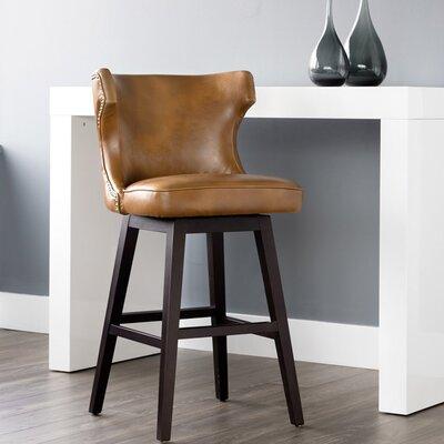 5west Neville 30 Swivel Bar Stool Upholstery: Tan