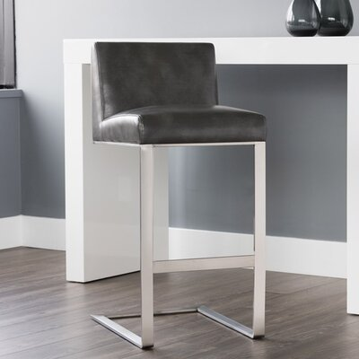 Club Dean 30 Bar Stool Upholstery: Gray
