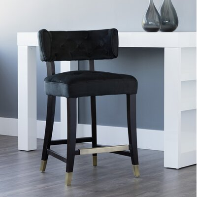 5west Tatum Counter 26 Bar Stool Upholstery: Black