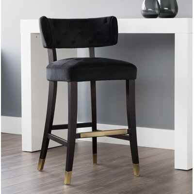 5west Tatum 21 Bar Stool Upholstery: Black
