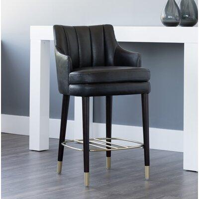 5west Valerie Counter 26 Bar Stool Upholstery: Black