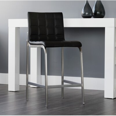 Urban unity Hart Counter 26 Bar Stool (Set of 2) Upholstery: Onyx