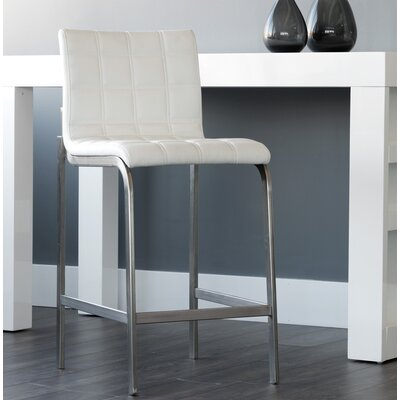 Urban unity Hart Counter 26 Bar Stool (Set of 2) Upholstery: Snow