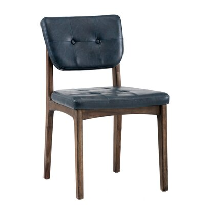 Irongate Jonah Upholstered Dining Chair (Set of 2) Upholstery: Blue
