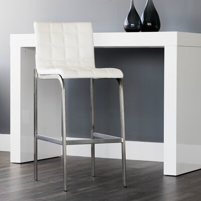 Urban unity Hart 30 Bar Stool (Set of 2) Upholstery: Snow