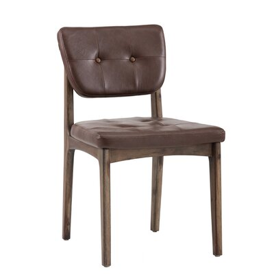 Irongate Jonah Upholstered Dining Chair (Set of 2) Upholstery: Cognac