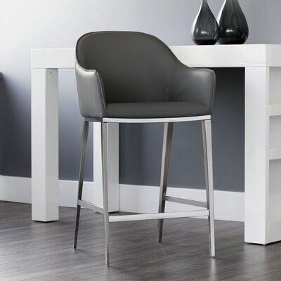 Ikon Stanis Counter 26 Bar Stool Upholstery: Gray
