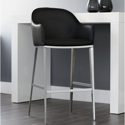 Ikon Stanis 30 Bar Stool Upholstery: Black
