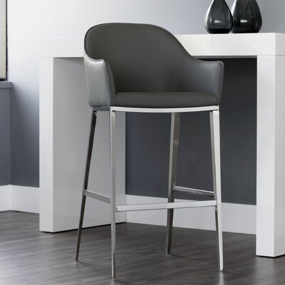 Ikon Stanis 30 Bar Stool Upholstery: Gray