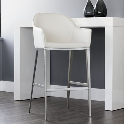 Ikon Stanis 30 Bar Stool Upholstery: White