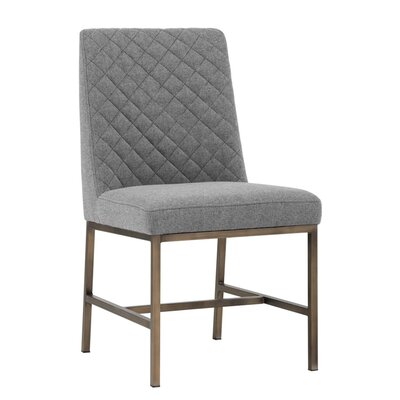 5West Leighland Upholstered Dining Chair (Set of 2) Upholstery: Dark Gray