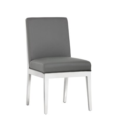 Ikon Sofia Upholstered Dining Chair (Set of 2) Upholstery: Gray