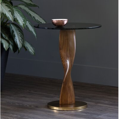 Ikon End Table Table Base Color: Gold