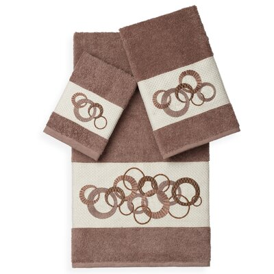 Byblos 3 Piece Towel Set Color: Latte